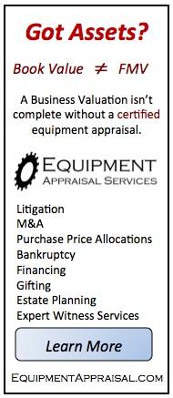 machinery appraisers washington