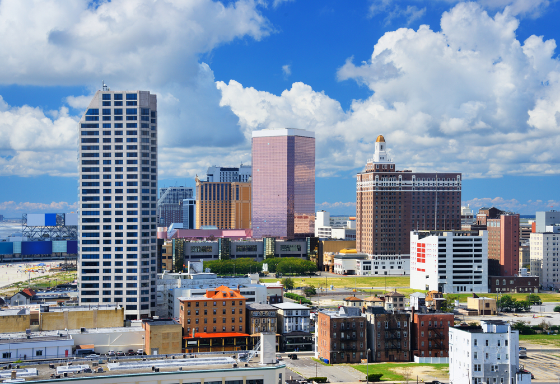Resort high rises in Atlantic City, New Jersey.